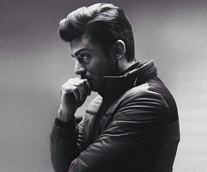 black and white, handsome, and bollywood image