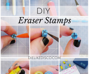 diy, erasers, and stamps image