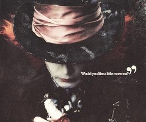 alice in wonderland, johnny depp, and mad hatter image