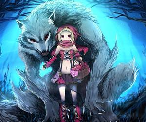 wolf, anime, and little red riding hood image