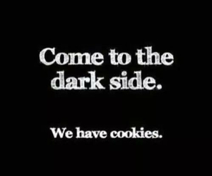 Cookies, dark, and dark side image