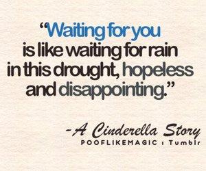 cinderella, hopeless, and waiting image