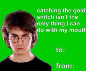 valentine, funny, and harry potter image