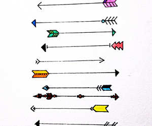 arrows, art, and colour image