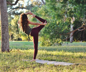 yoga, fitness, and pretty image