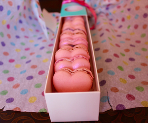 hearts, lovely, and macarons image