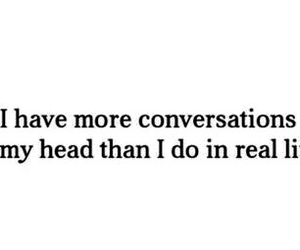 conversation, head, and quotes image