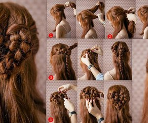 braid, valentines day, and hair image