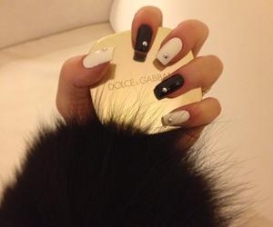 nails, fur, and girl image