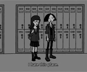 school, hate, and Daria image