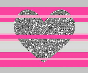 gray, love, and heart image