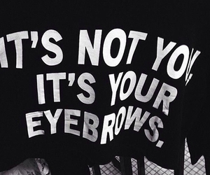 eyebrows, grunge, and black image