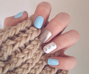 gold, knit, and mint image