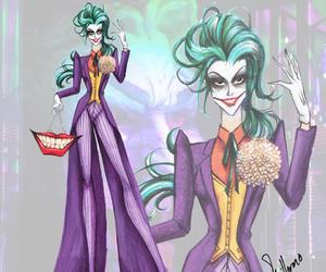 joker, batman, and villain image
