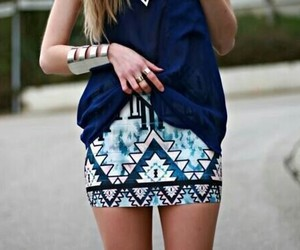 fashion, skirt, and blue image