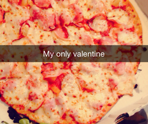 couple, pizza, and valentine image
