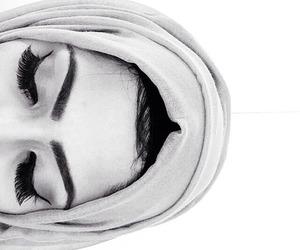 beauty, eyebrows, and hijab image