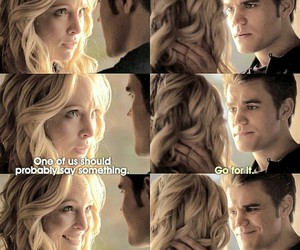 paul wesley, stefan salvatore, and candice accola image