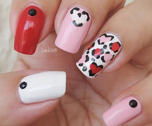 animal print, hearts, and leopard print image