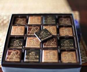 chocolate, godiva, and food image