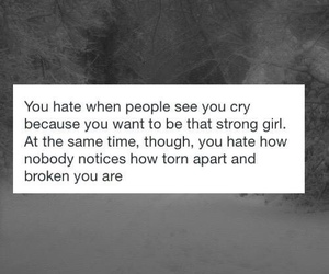 cry, girl, and people image