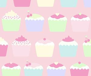 cupcake, pink, and wallpaper image