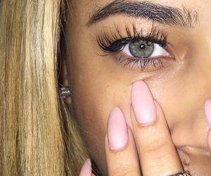 nails, eyes, and girl image