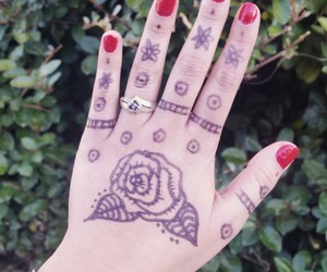 henna, nature, and ring image