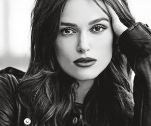 keira knightley and black and white image