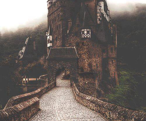 castle, vintage, and nature image
