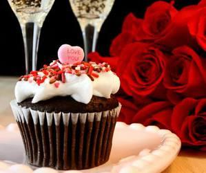 cupcake and roses image