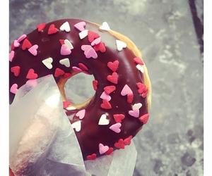 donuts, food, and hearts image