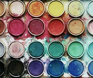 art, paint, and colours image