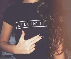 black, hair, and killin it image