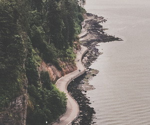 nature, sea, and road image