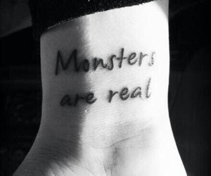 monster, tattoo, and real image
