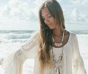 beach, blonde, and bohemian image