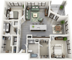 apartment, interior, and floorplan image