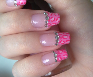 diamonds, leopard, and nails image