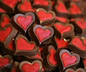 hearts, valentine, and chcoclate image