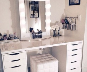 makeup, room, and white image