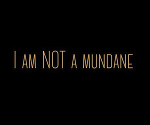 mundane, shadowhunter, and tmi image