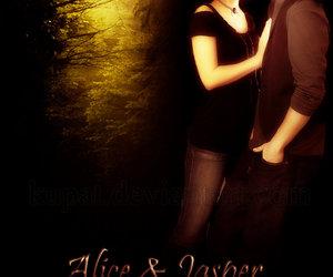 alice cullen, couple, and jasper hale image