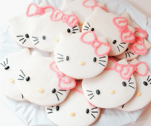 hello kitty, Cookies, and pink image