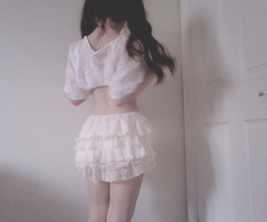 girl, pale, and white image