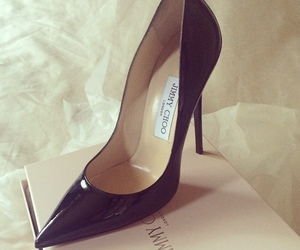 high heels, black, and shoes image