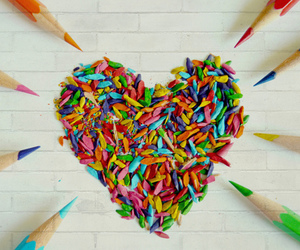 heart, love, and pencil image