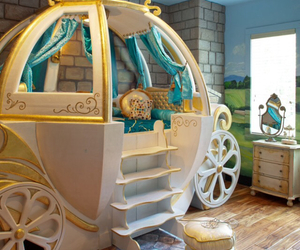bedroom, cinderella, and kids image