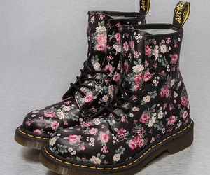 boots, doc martens, and floral image