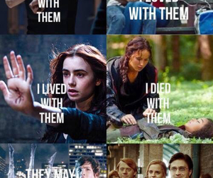 harry potter, divergent, and book image